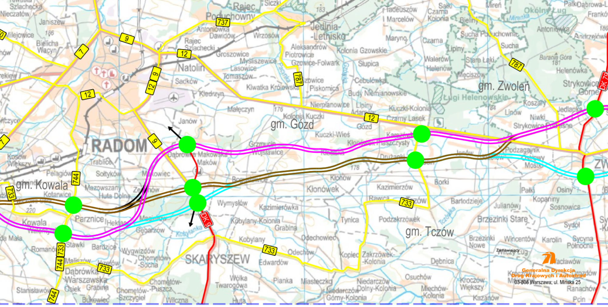 Droga ekspresowa S12 na odcinku Radom - Puławy